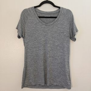 Danskin Grey Workout V-Neck T-Shirt